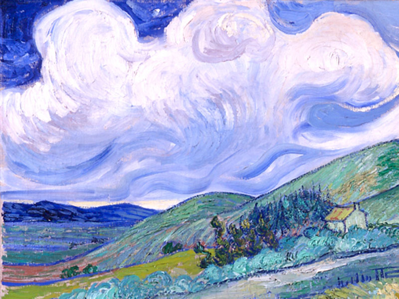 poboh:  Landscape from Saint-Rémy, 1889, Vincent van Gogh. (1853 - 1890)