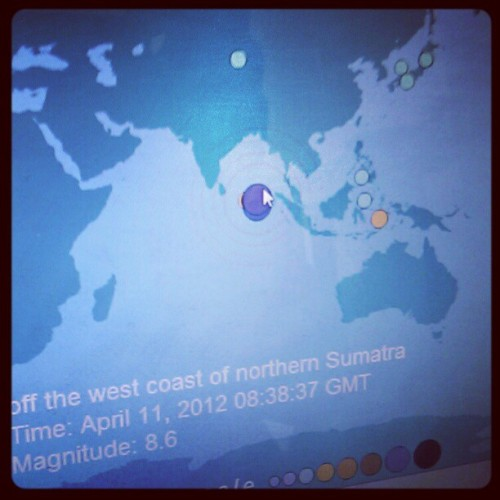 #earthquake #sumatra #map (Pris avec instagram)