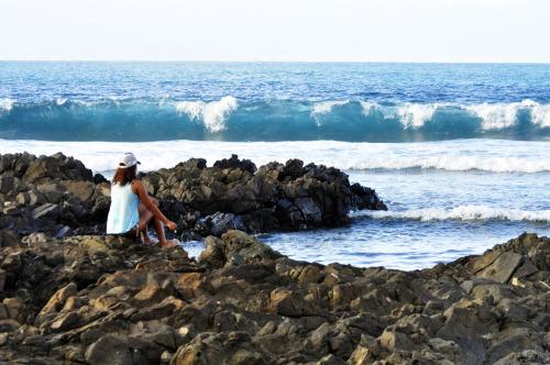 Wavewatching. Waiting for the tide to come in. Photo by Bri Leones.