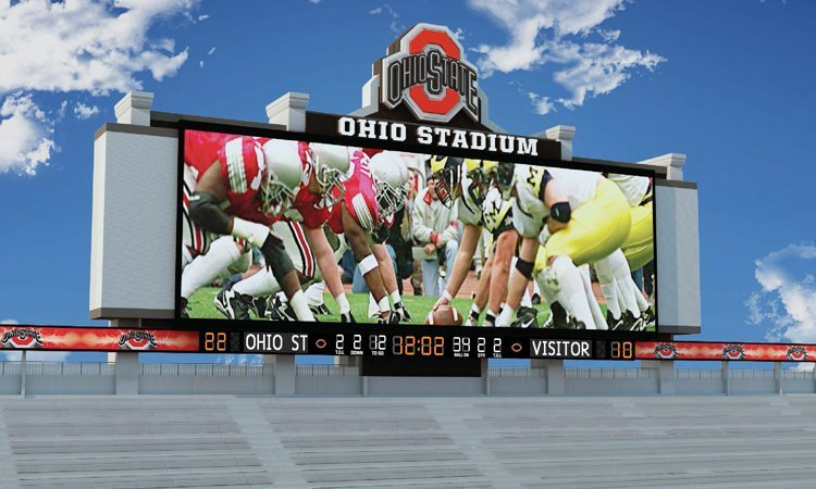 Ohio Stadium is getting a new videoboard. The old board was good but this new board is going to be a big upgrade. (See the OSU Athletics release here: http://goo.gl/zh49h)