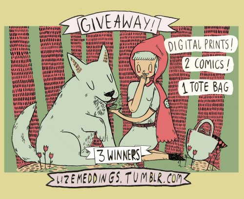 lizemeddings:  FREE STUFF! Because I have some stock left over from the art fairs I attended, I figured it was time for my first give away competition! Rules are standard must follow me must reblog, as many times as you like! there will be 3 winners, and there's a tote bag, some digital and screen prints, and a comic or two AND a few keyrings up for grabs. Lucky winners will be picked on the 16th and I'll drop you a message so make sure I'm able to message you. Happy blawgin' and if you have any questions just drop me a message peace out  What? a guy can't have cute things?