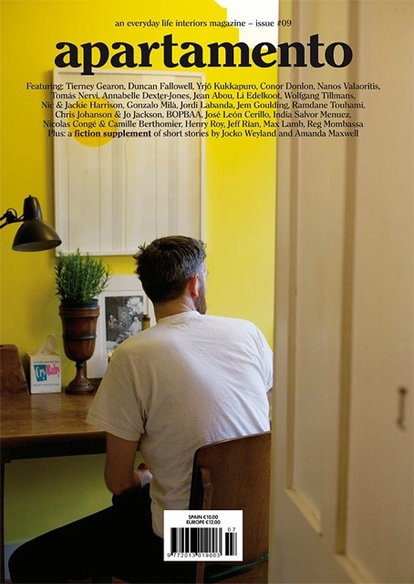 Conor Donlon x Apartemento Issue 9 You probably remember our feature on Conor Donlon, the guy who studied Fashion Design at Central Saint Martins without ever designing a single piece of clothing before opening Londons best book store Donlon Books. We were really happy to see his face (or rather his back) on the cover of the upcoming Apartemento Issue and are curious to read the piece soon.