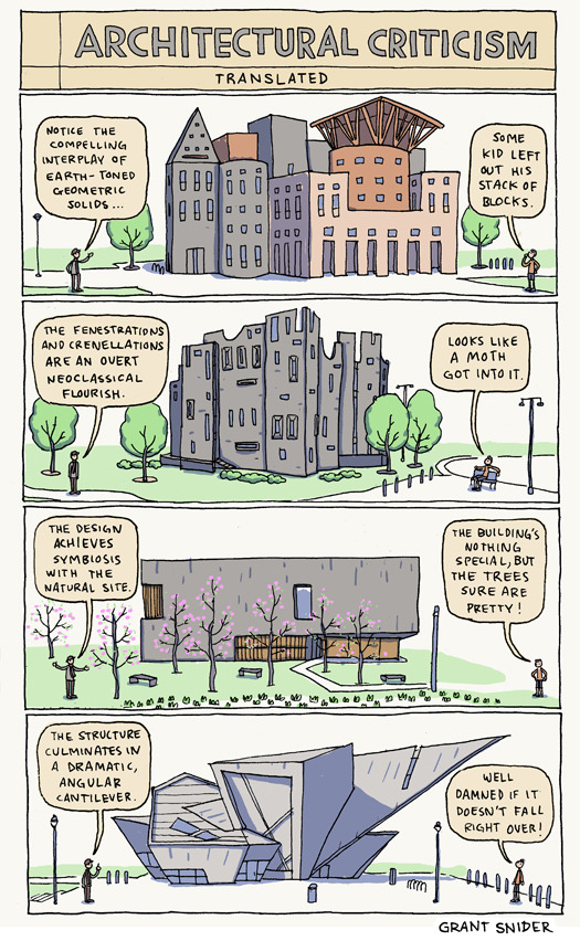 laughingsquid:  Architectural Criticism Translated