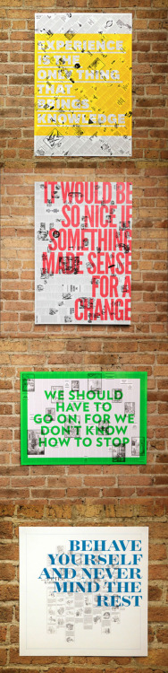 Brandt Brinkerhoff & Katherine Walker collaborated on this poster series based on the original text and etchings from classic children's stories.