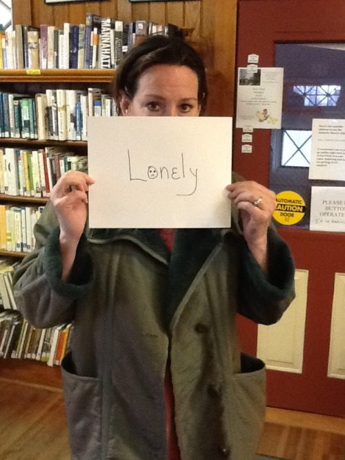 "Laura says: ""I would be lonely. I meet wonderful people at the library. And all these books speak to me."""
