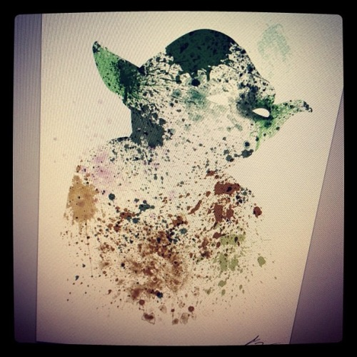Paint Splatter Yoda DONE! Who's Next? :D