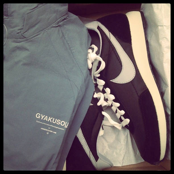 Honored to own this. Thank you Mister Tucker! #nikejapan #gyakusou #airtailwind (Taken with instagram)