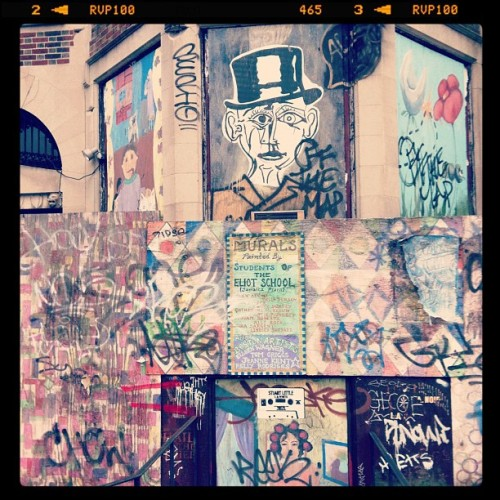 Street Mural in Kenmore Square #Boston (Taken with instagram)