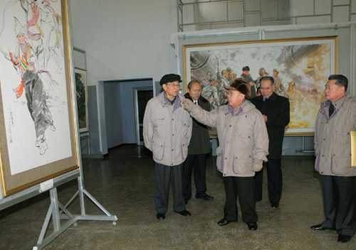 kimjongillookingatthings:  looking at a painting