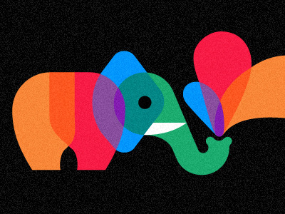 monstereatsdesign:  (via Dribbble - Playful Pachyderm_v2 by Chris Parks)