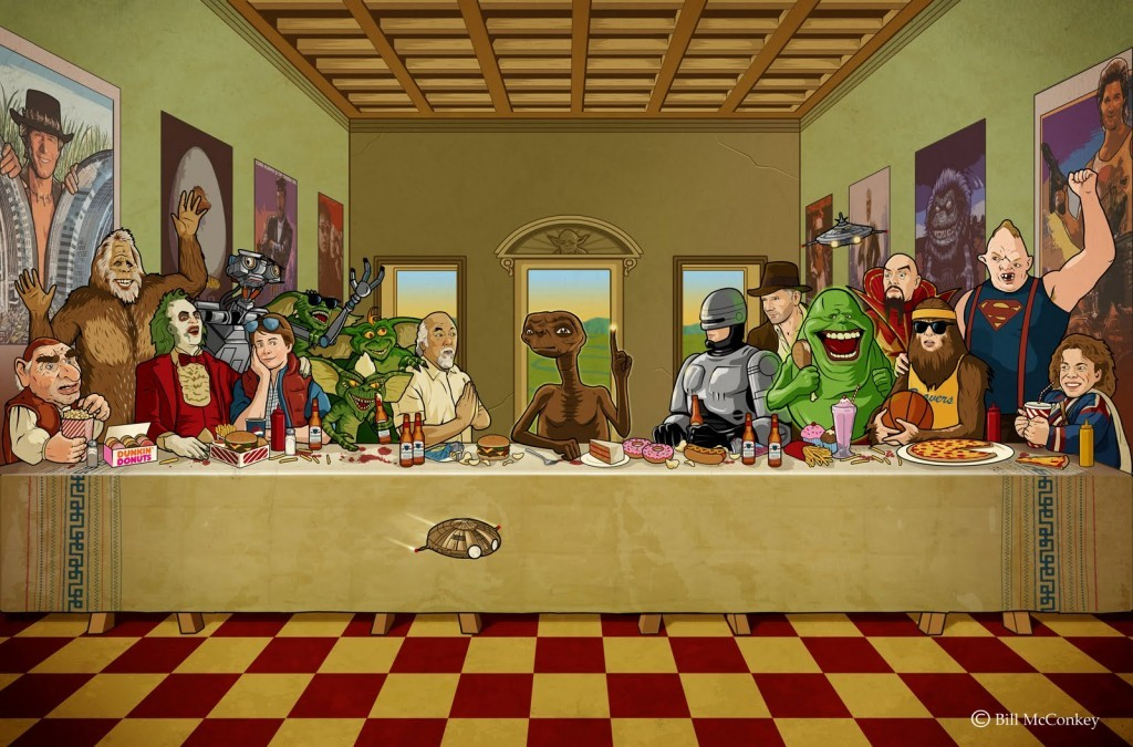 imremembering:  Who can you name from this '80s Last Supper? [scrapsity]