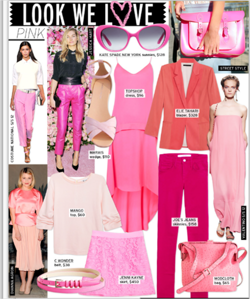 how many times can you say #prettyinPink? @WhoWhatWear can say it 100's of times! LOVE #pink fabrics;