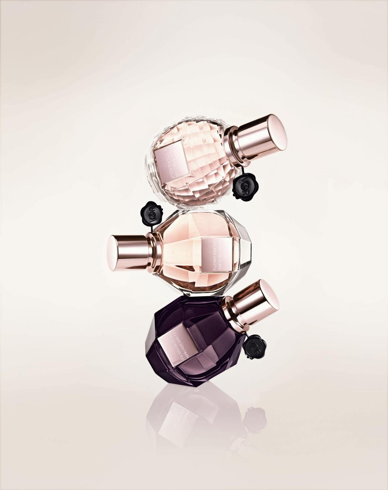 Bottles of Viktor&Rolf's Flower Bomb
