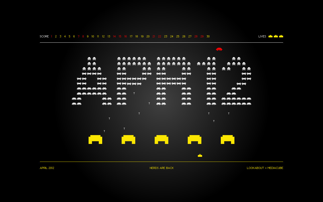 Space invaders on your desktop this April Available in various sizes on our website.