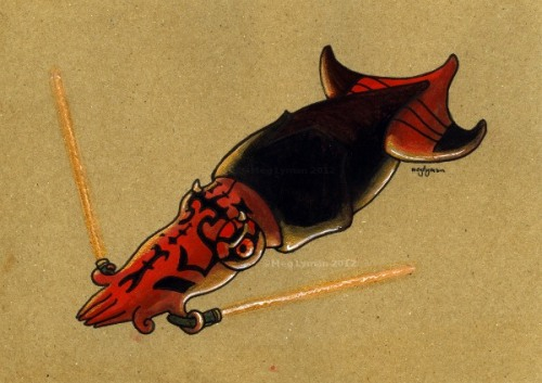 Darth Maul squid carries two lightsabers. The squid force is strong!