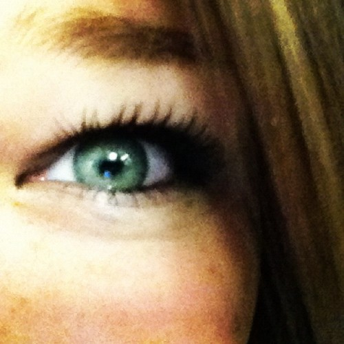 #bluegreeneyes #brownhair #eyelashes (Taken with instagram)