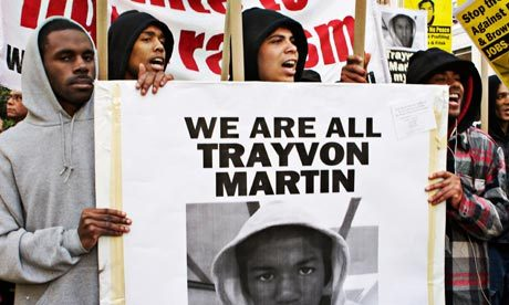 "guardiancomment:   The question on many a mind is whether Zimmerman can get a fair trial. But the question plaguing me is why the Trayvon Martins of the world are not afforded a fair trail before execution. Before there was Martin, there was Rodney King and Amadou Diallo and many an unknown victim of prejudice. As a matter of fact, I became aware of Martin's murder because someone sent an email to me asking whether his killing was this generation's ""Emmett Till moment"". When people ask this question, they are already conceding legal defeat. Till was killed when he was 14 years old in 1955 while visiting Money, Mississippi. Till was from Chicago and didn't know the ways of the south. He committed the ""crime"" of flirting with a white woman. He paid for that with his life when he was kidnapped from is grandfather's home by two armed white men, beaten, tortured, and murdered. His corpse was later found bloated and disfigured in the river. The picture of Till in his casket, famous for being published in Jet magazine with his mother's permission, garnered national attention. His murderers where put on trail and, as expected, acquitted. Some time later, they confessed to the murder to a journalist once assured that double jeopardy meant they could not be tried again. I expect much of the same for Martin's case. I fear that legal pundits will say that the evidence the police bothered to collect is inconclusive, that any potential jury pool has been tainted. And then there is the issue of Florida's ""stand your ground"" law absolving people of crimes against those they fear. In 1950s Mississippi, Jim Crow public segregation laws demanded the acquittal of Till's murderers. In 2012, we have stand your ground and a general acceptance that young black men bring violence upon themselves to shield justice from light and provide cover for those who meet out vigilante justice.  • Pamela Merritt (aka blogger Angry Black Bitch) ponders George Zimmerman's possible upcoming trial, and the concept of justice Photograph: Yunus Emre Caylak/Demotix/Corbis"
