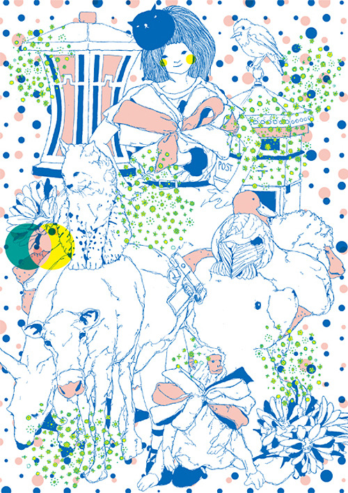 Japanese Illustration: Doooooooot. Toshihiro Mori. 2012