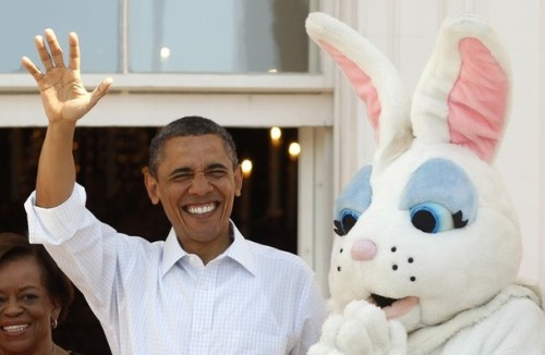 How did this creepy bunny get past the Secret Service?