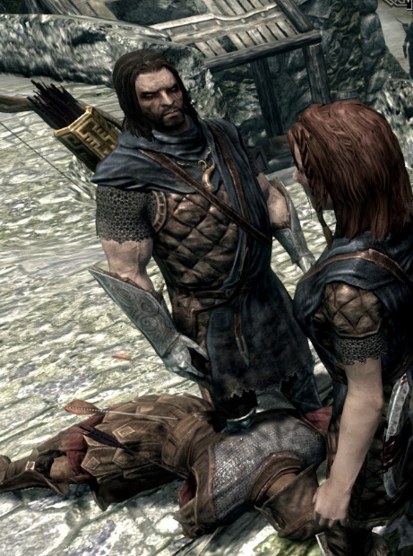 In one of my games, Farkas is a true son of Skyrim who hates the Empire more than I do. Every time we go to battle, this is the face he makes as he chops Imperial soldiers to bits.
