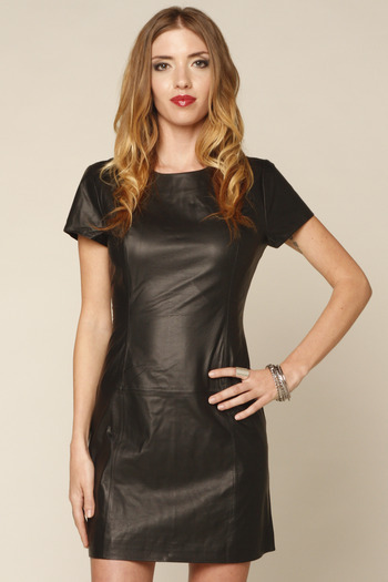 This leather dress will infuse your look with attitude