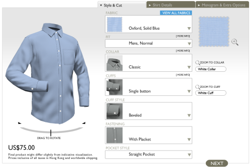 "The Custom Shirts Series, Part V: Using Online Tailors The traditional way to have a custom shirt made is to go through a local or traveling tailor. Unfortunately, the best ones are expensive. Many start around $200 and require a three to six shirt minimum on your first order. There are also good made-to-measure shops such as CEGO, but those will typically start around $125-150 as well. If you can't go to a traditional tailoring shop – whether because of location or budget – there are a host of online operations you can turn to. Here, you submit your measurements and design your shirts online. The company then manufactures your shirts in China according to a pre-made pattern they've adjusted for you, and then ships you the final goods. Prices in this field generally start around $60, which isn't too far off from what department stores charge at full retail. Of course, the model isn't without its problems. Taking your own measurements can be tricky, even if you have someone to help you. One solution is to have four to six different people measure you and then figure out the averages. By doing so, you reduce the risk of error. You may also want to consider padding the numbers by adding a quarter of an inch all around. Remember – if the shirt is a bit too full, it's still wearable; if it's too tight, it's not. You can see how the first shirt fits and then adjust your measurements on the second order.  The other problem is that it can be difficult to figure out what a particular fabric looks like from a small ""swatch"" on your screen. There are many dimensions that won't come through, such as how it feels, whether it's somewhat thin or transparent, and how it looks when it moves. There's no substitute for having a real swatch book in front of you, but it can help if you review my primer on fabrics. The descriptions of fabrics you read online should tell you enough, assuming you know the technical jargon. Some companies will also send you fabric samples from their different price tiers, so you can at least judge the varying qualities.  So, which companies can you turn to? There are probably more than a dozen operations, and I've only tried a handful. The best, from my experience, has been Cottonwork. In the interest of full disclosure, you should know that Cottonwork will be an advertiser here at Put This On, but I genuinely recommend them. Of all the online shirtmakers I've used, they've been the best fitting and most consistent. They have a good range of fabrics, including affordable ones that start at $65 (though in my opinion the more workable stuff is at the $75 tier), as well as finer shirtings by Thomas Mason and Tessitura Monti. The seams are made with a fairly high stitch count, thus making them nearly invisible when done, and everything is finished on the inside with a flat-felled seam. This takes more time to execute than the cheaper overlock stitch, but it prevents the fabric from fraying over time. Perhaps most importantly, Cottonwork's website allows you to see how your shirt might look as you add on different options.  I've also had shirts made by Made Tailor and Biased Cut. Their shirts fit considerably slimmer than Cottonwork, so if you're just getting your first one, I strongly advise you pad the numbers a bit. Their fabrics aren't as nice, but they have a number of customization points in their favor. Made Tailor, for example, has a particularly handsome cutaway collar, and Biased Cut allows you to put a monogram on the shirt's sleeve gauntlet.  Another big player in this field is Modern Tailor. On the upside, they can be much more affordable than any of the options above. On the downside, I've found their consistency and quality control to be rather lacking. Different shirts made on the same order can sometimes be cut to different measurements. The stitching is also not as fine as it could be, though that part is well made up for in the price. The one area they seem to be decent at is in copying shirts. Here, you just need to send them the shirt you want copied, specify the fabric and details you want added or subtracted, and they'll send you the shirt back along with their copy. Generally, these shirts will fit exactly as your original. There are many other companies as well, such as Joe Button and Proper Cloth, but I have no experiences with them. Whoever you choose, I recommend you pick someone you think you can use for the long term. Online custom tailoring is a tricky thing, and the payoffs really come when you have your second or third shirt made. If you're lucky, the first shirt will fit well, but more likely than not, it won't. You have to expect that adjustments will need to be made; it's the nature of what happens when you submit your own measurements. If you can find a company that will look at photos of you in your new shirt, and advise you on what adjustments need to be made, all the better. Just make sure you're picking someone with an eye towards subsequent orders and iterative improvements, not just who can make you the cheapest product."