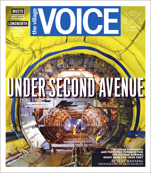 For this week's cover story, we go deep beneath Second Avenue with the sandhogs:  The history of the New York City sandhogs dates back to the 1870s and the sinking of the caissons for the Brooklyn Bridge. Local 147 was formed some 30 years later, in 1906, and has been integral to every subterranean public-works project since. Subways, car and water tunnels, sewers—you name it, they've dug it. Yet in all that time, the sandhogs have never experienced a bonanza of work such as that of the past few years.