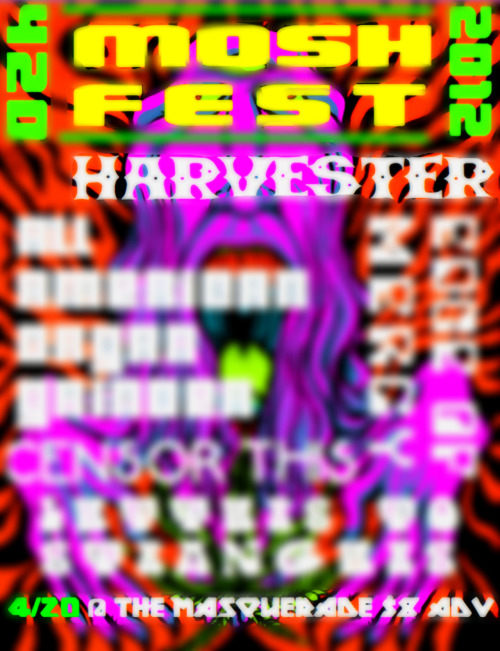 Come celebrate 4/20 with HARVESTER @ THE MASQ
