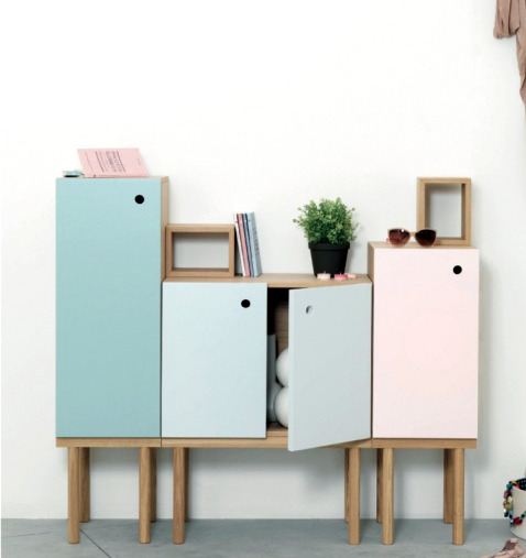 Collage cabinet by Sigrid Strömgren