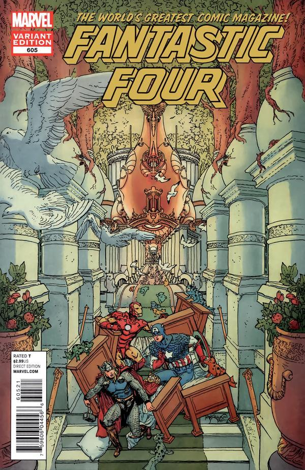 This variant cover here, is this a Little Nemo/Avengers mash-up thing?  Is this a movie thing?  Why on the cover of FF?  WHY????