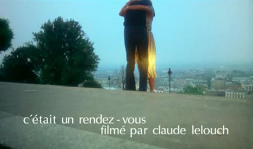 It was a date Film still from C'était un Rendez-vous by Claude Lelouch (1976)