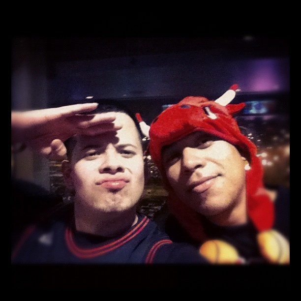 Me and my Cuz. Love this dude. At the Bulls game. Yeah we were a Lil drunk lol #chicago #bulls #family #chicagobullls  (Taken with instagram)