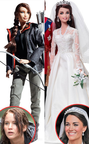 Wow, Katniss Everdeen and Kate Middleton get their own Barbies!!