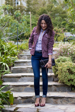 Outfit – Pinstripes and Tweed
