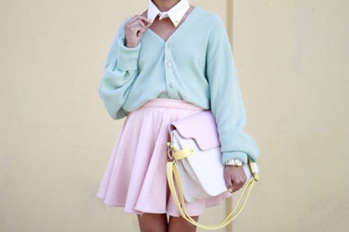 lusttforlifeblog:  Caravan Collar /Vintage Sweater / Keepsake Skirt / Marc Jacobs Watch