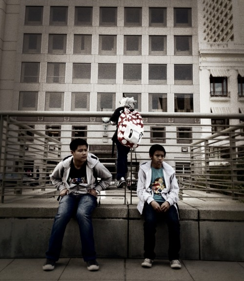 SAN FRANCISCO MY BOYS @ UNION SQUARE 2012 iPhoneography Shot taken of my boys during my vacation in da Bay Area.
