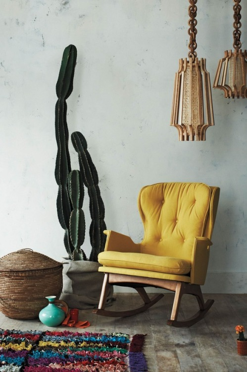 Yellow rocker from Anthropologie.