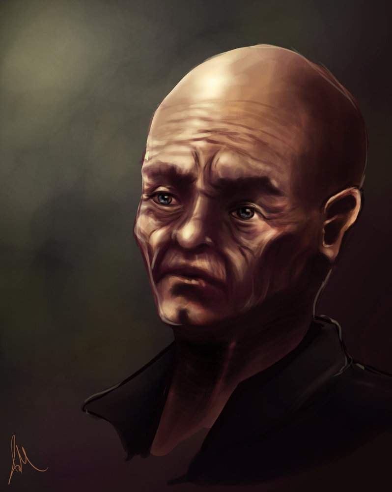 Afternoon speed paint of old man.