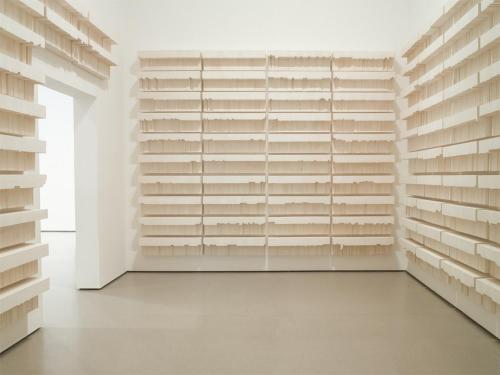 drenchedland:  Rachel Whiteread, Untitled (Paperbacks)