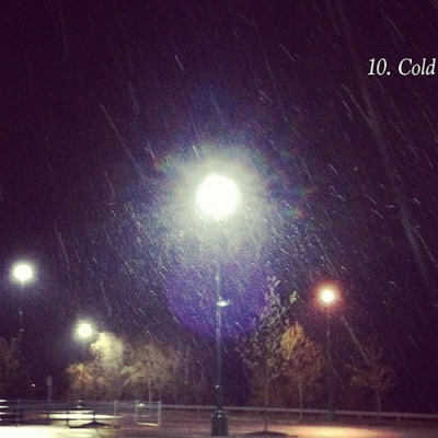10. Cold #photoadayapril, a photo by aecamadi on Flickr. Snow is falling. Isn't it April? Original Article