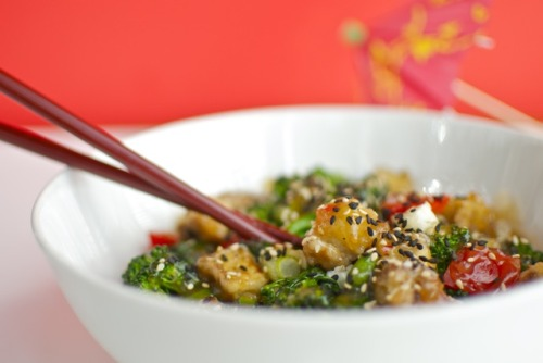 Sesame Tofu {Recipe} Found at: namelymarly