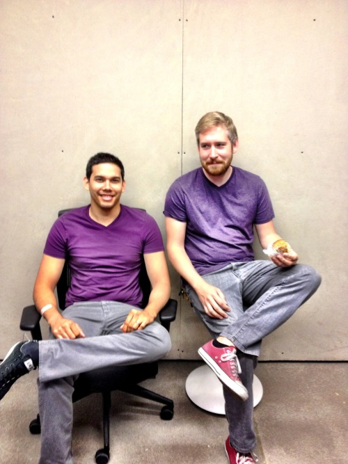 Goodness grapes-cious! All twinsied-out in purple.  ~Submitted by Meltmedia, Tempe, AZ.
