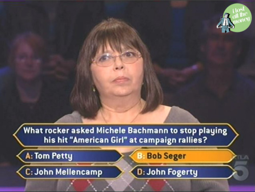 can't decide which is funnier. the fact that this lady thinks bob seger sang american girl or that michelle bachmann kicked off her campaign with a song about a girl who committed suicide.