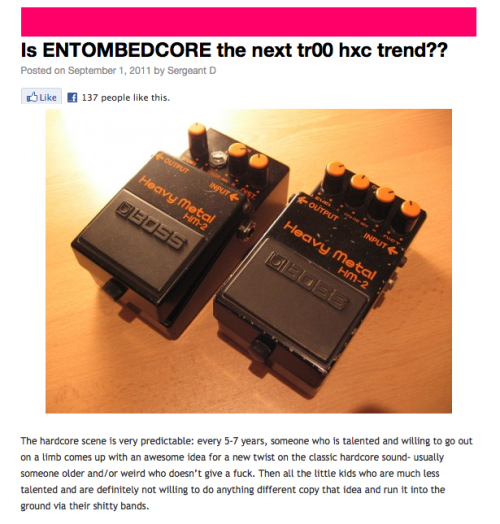 Is EntombedCore the next trend in HC?