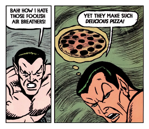 BAH! Marvel Comics' Namor illustrated by Michael Kupperman :: scanned from Strange Tales :: Marvel Publishing Ltd. :: 2009