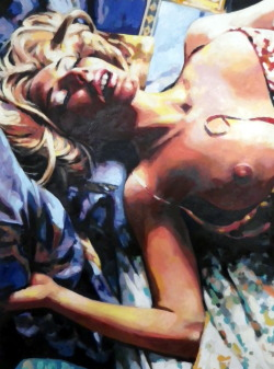 thomassaliot:  Bed blond just finished Oil on canvas