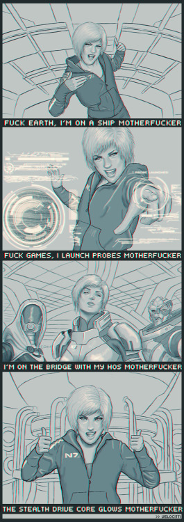 harpalyce:  I'm On A Ship by *velocitti NEW FAVOURITE MASS EFFECT FANART