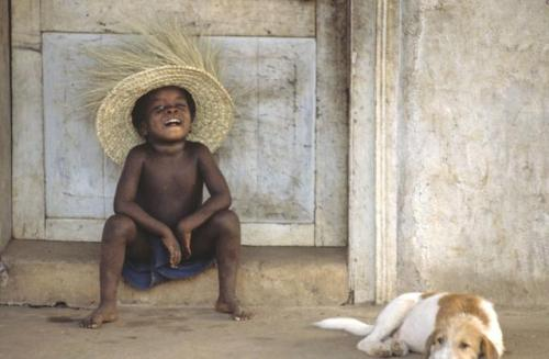 Modu and my dog Eh Wan Paul Gamble Sierra Leone 1982