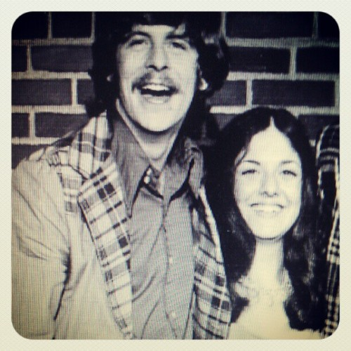 My mother and RJ, high school days. (Taken with instagram)