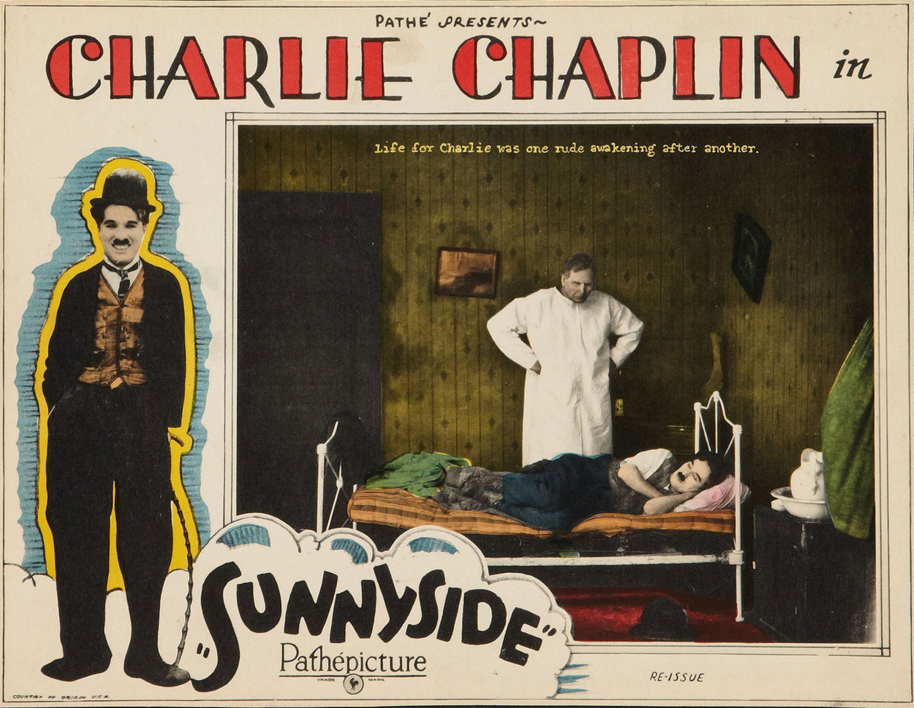 Sunnyside, US lobby card. Pathé re-release 1923